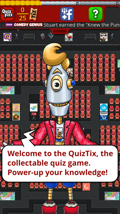 QuizTix: BBC Comedy Genius Quiz screenshot one
