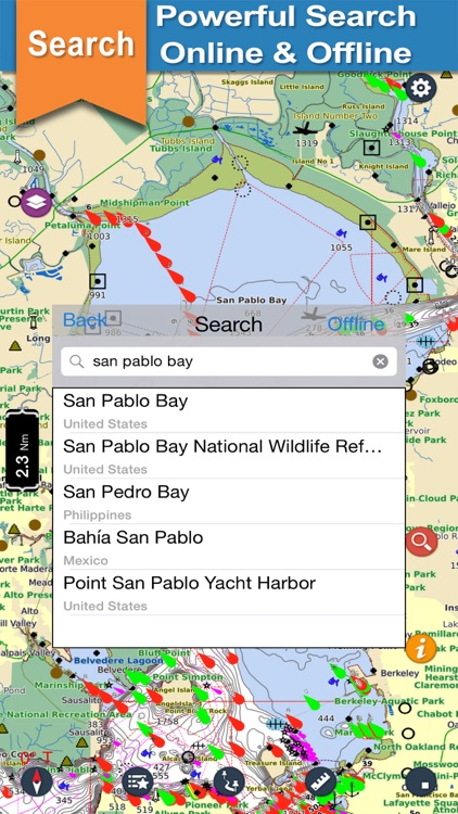 US West Coast offline nautical charts for fishing