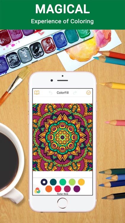 ColorSip Calm Relax Focus Coloring Book for Adults screenshot-4