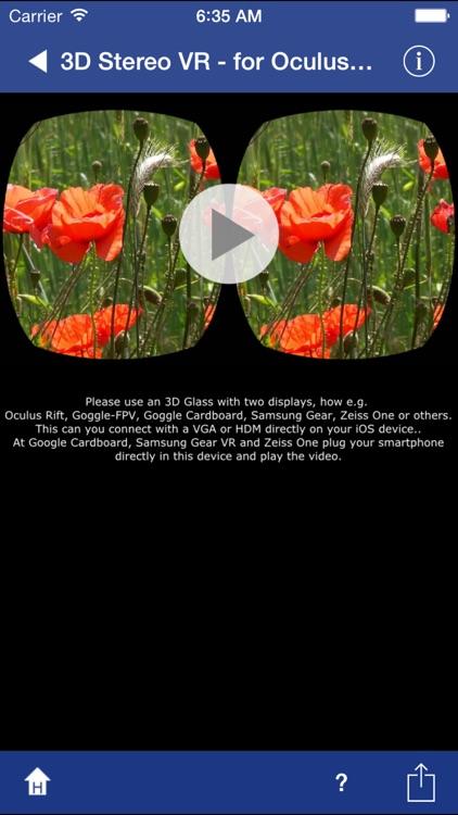 3D Stereo VR