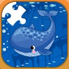 sea animals jigsaw puzzle games for kids icon