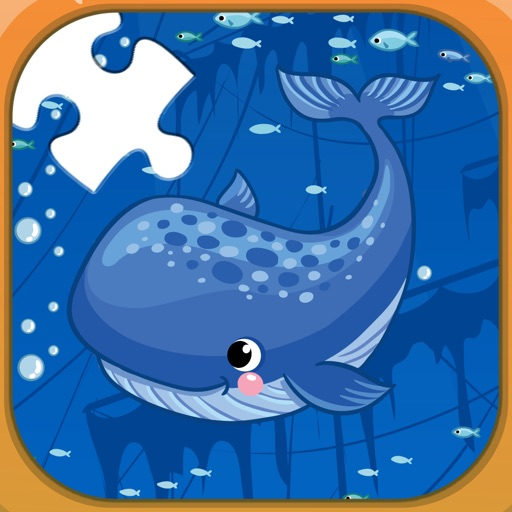 Sea animals jigsaw puzzle games for kids iOS App