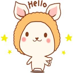 Kawaii The Cute Dog stickers by Dennis Wu