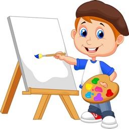 儿童画画教程-小吉宝宝学画画板