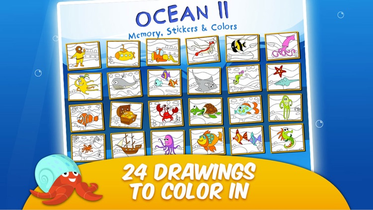 Toddler & Kids Learning Games Age 3+ Free: Ocean 2