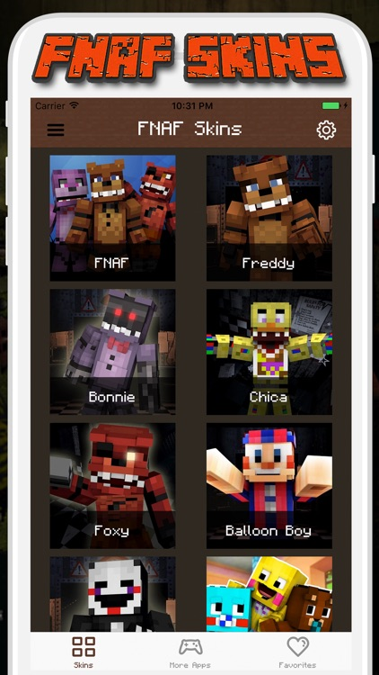 FNAF Skins For Minecraft PE Pocket Edition By Tosak Promjanthuek - Skins para minecraft pe foxy