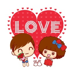 Happy Couple Stickers for Valentine