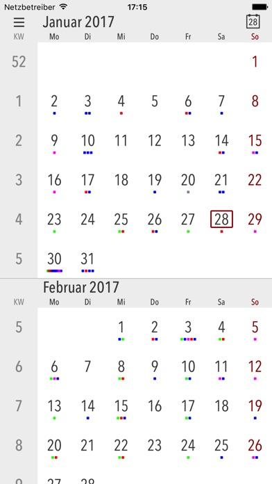 Cali - Die Kalender AppScreenshot von 2