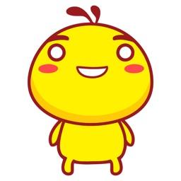 Happy Chicken Animated Emoji Stickers