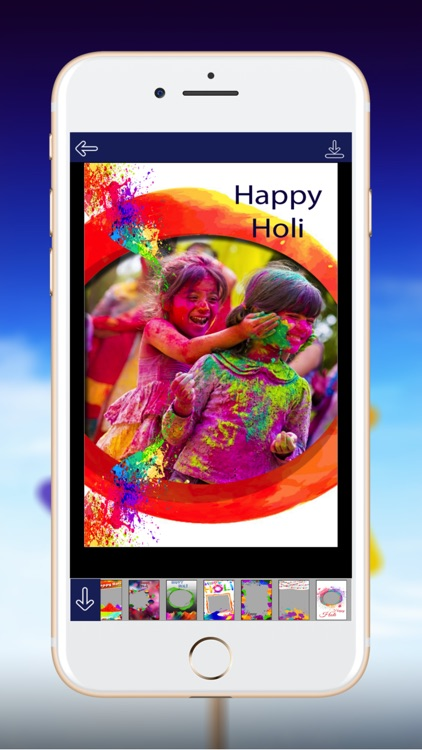 Holi Photo Frame - Best Frame of Colors