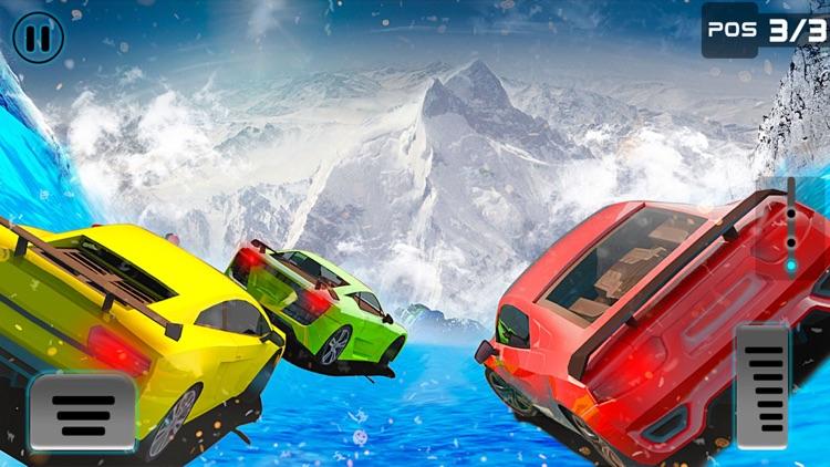 Frozen Water Slide Car driving simulator pro screenshot-4