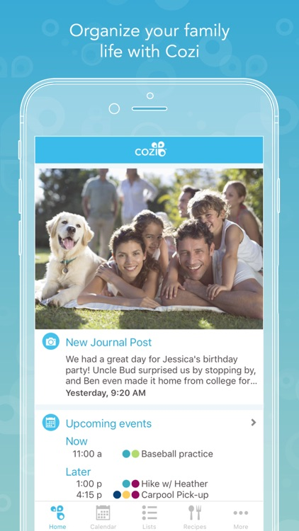 Cozi - Shared calendar & lists