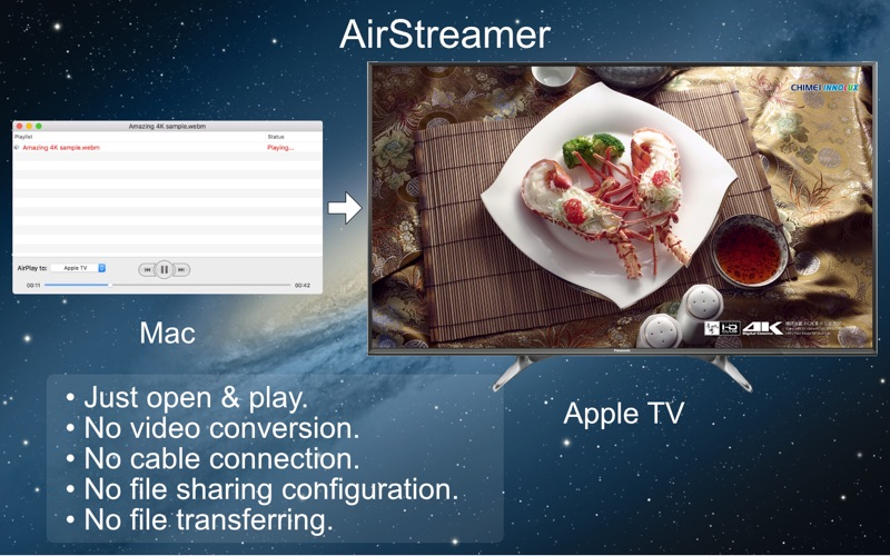 AirStreamer - for Apple TV Screenshot
