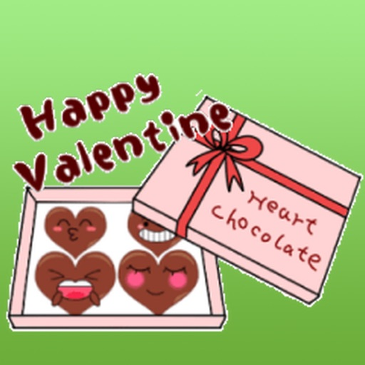 Heart Chocolate For Valentine Day Stickers