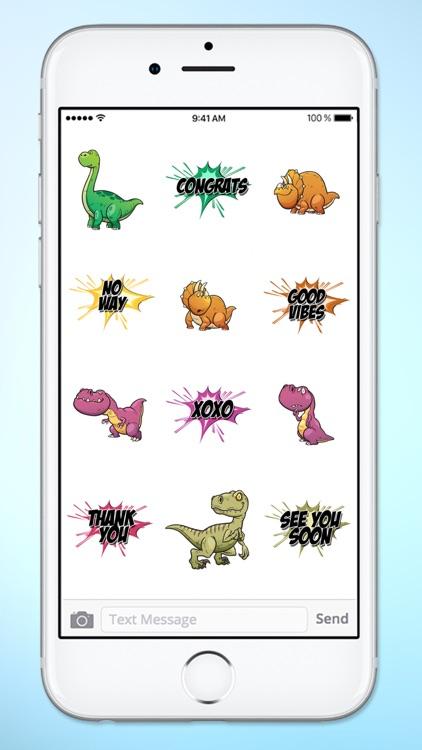 Dinosaur and Word Sticker Pack screenshot-4