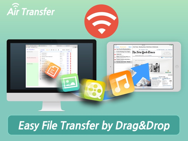 Air Transfer+ File Transfer from/to PC thru WiFi צילומי מסך