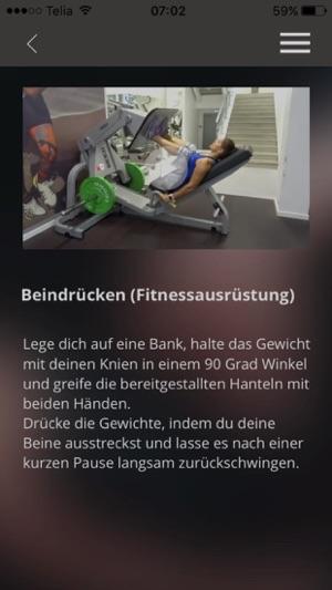 Fitnessstudio Muskelaufbau Übungen Brust Training Screenshot
