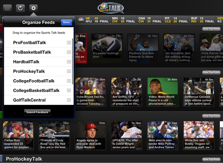 NBC Sports Talk for iPad screenshot-3