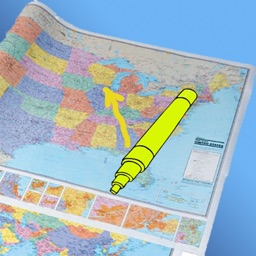 Paper Map with markers