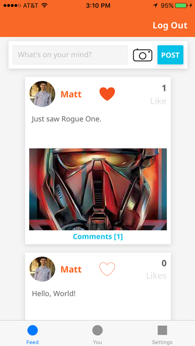Social-Network screenshot one