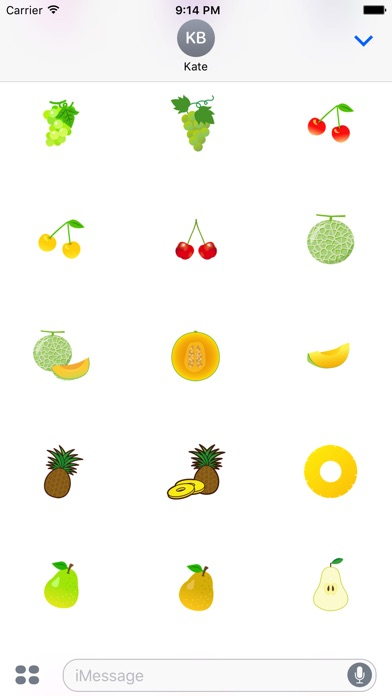 Nette Frucht AufkleberScreenshot von 3