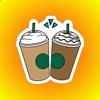 100杯のコーヒーやお王の命 ステッカー
