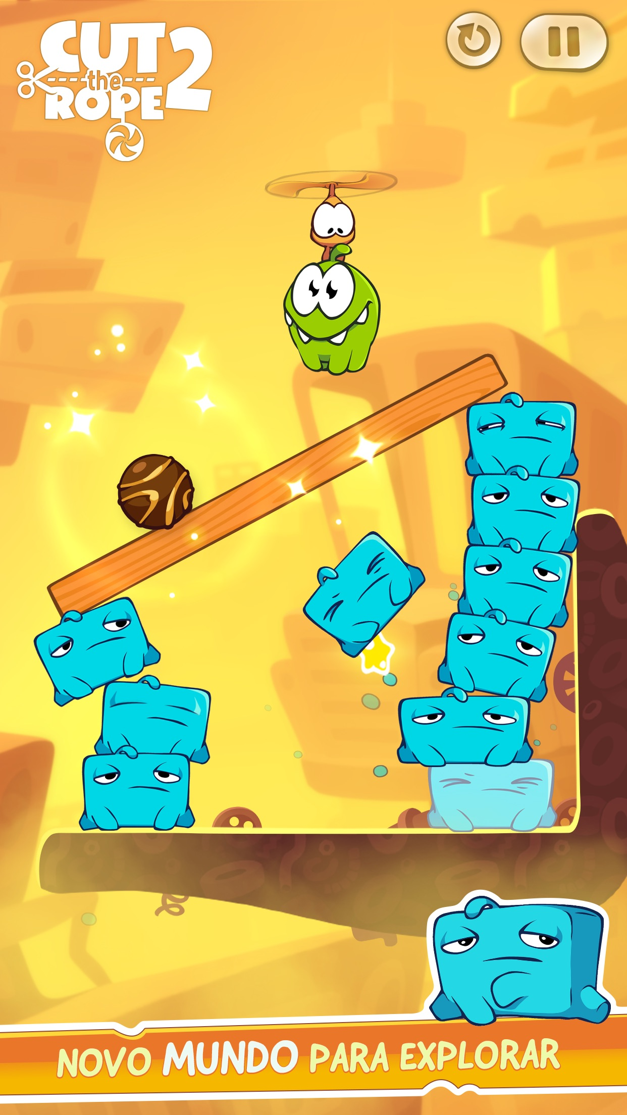 Screenshot do app Cut the Rope 2