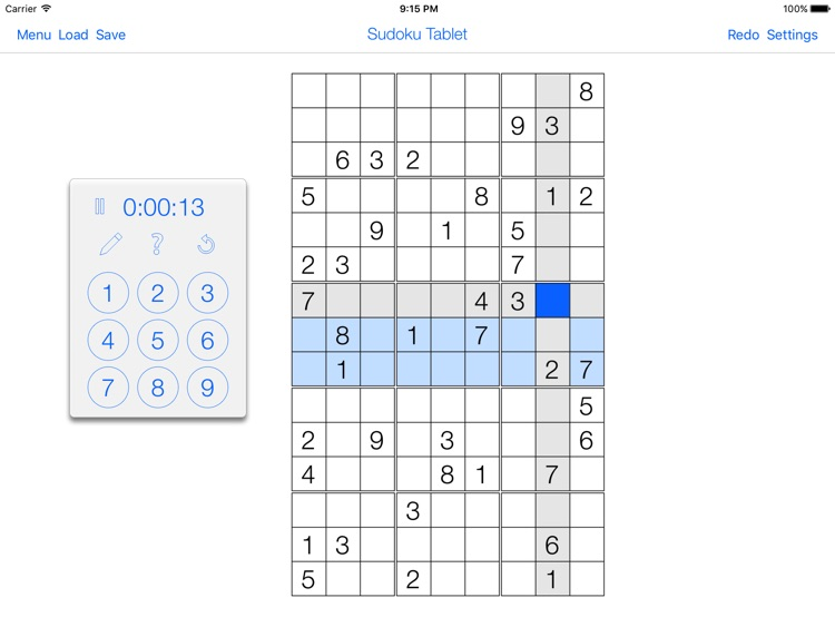 Sudoku Tablet screenshot-3