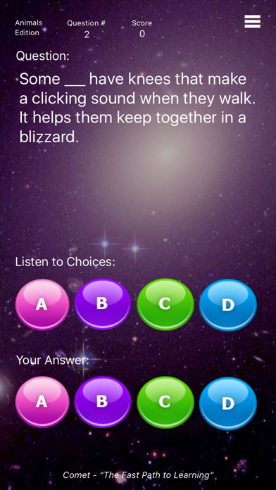Comet The Spelling Game - Animals screenshot one