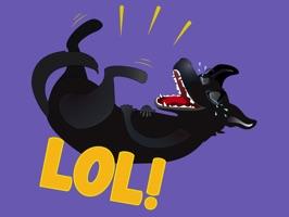 Nero the Black Dog Cute Funny Comic Pet Stickers