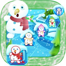 happy snowman match 3