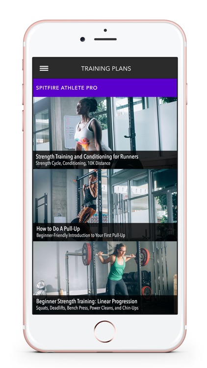 Spitfire Athlete Weight Lifting App & Workout Plan
