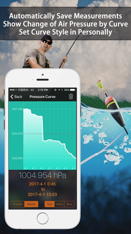 Barometer & Altimeter - for outdoor sports,fishing screenshot-1