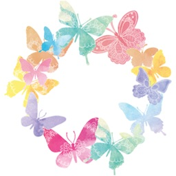 Watercolour Butterfly Animated Stickers