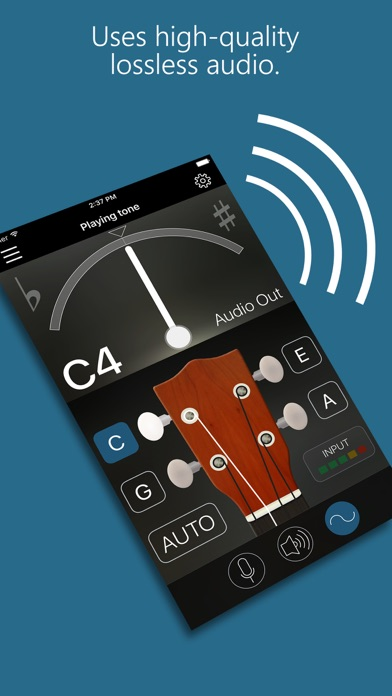 Precision Ukulele Tuner - with Chords & Metronome app image