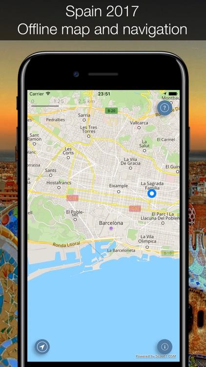 Spain 2017 — offline map and navigation!