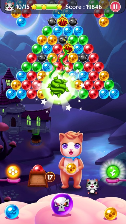 Witch Puzzle Kitty Cat Pop: Bubble Shooter Games screenshot-4