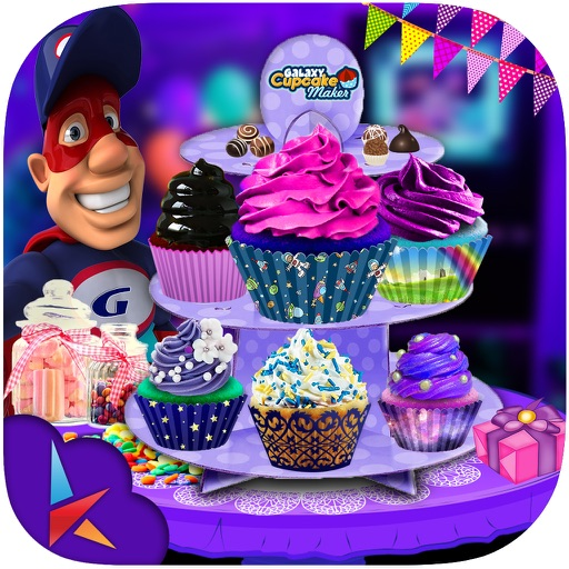 DIY Galaxy Cupcake Maker - Chef Kitchen Craze fun iOS App