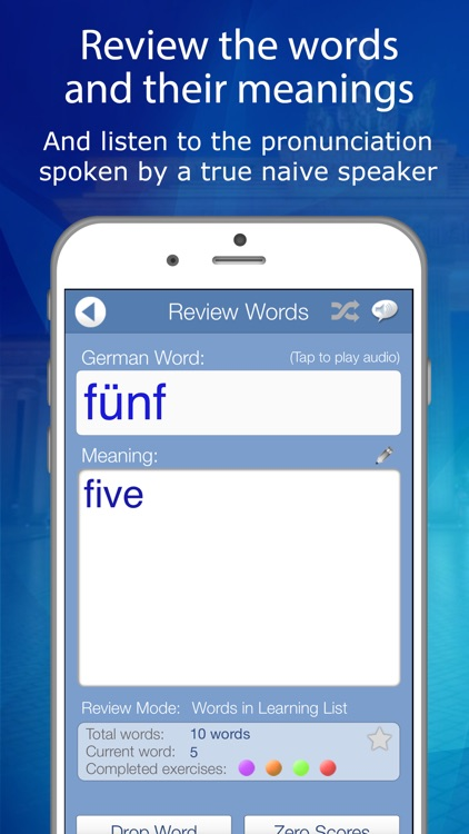 Declan German FlashCards screenshot-2