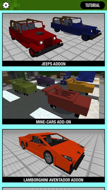 CARS ADDONS for Minecraft Pocket Edition