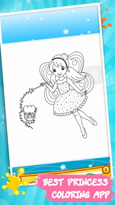 Princess Color Book – Painting Pic 1