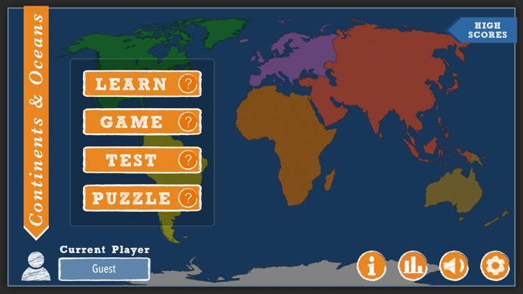 iLearn: Continents & Oceans screenshot-0