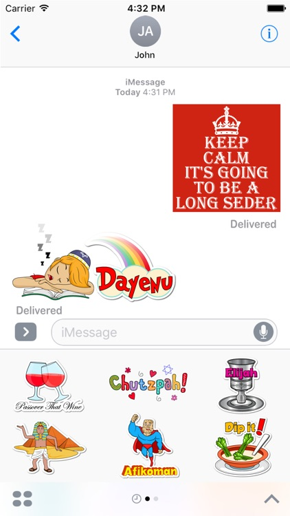 Passover Haggadah- Jewish Holiday Sticker Pack