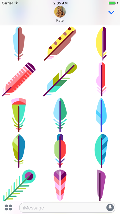 Feather Stickers screenshot three