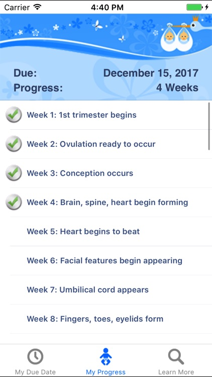 MyDueDate - pregnancy progress tracker