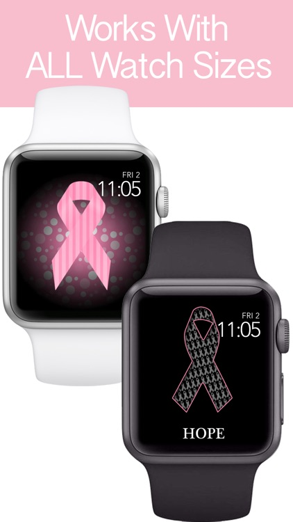 Pink Ribbon Watch Faces - Backgrounds & Wallpaper screenshot-3