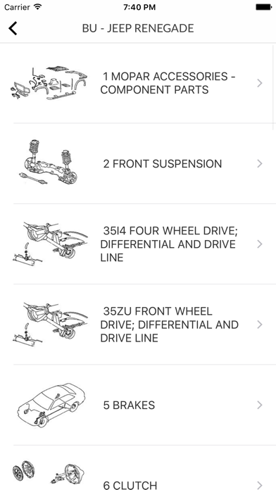 Car Parts for Chrysler - ETK Spare Parts Diagrams Screenshot