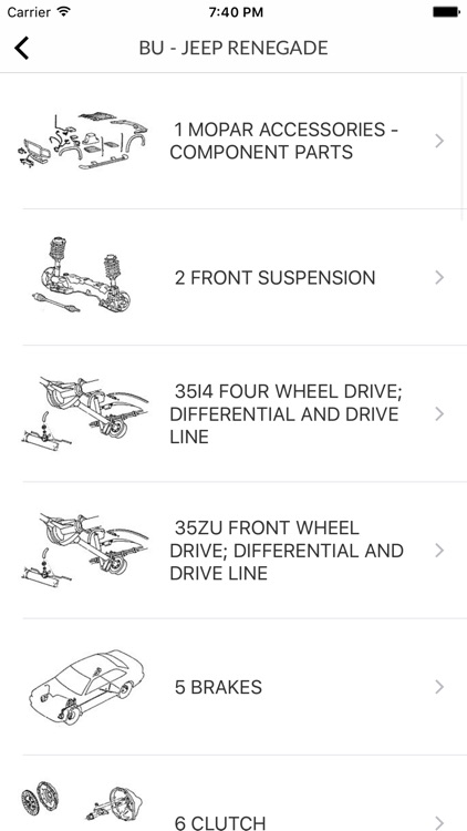 Car Parts for Chrysler - ETK Spare Parts Diagrams screenshot-3