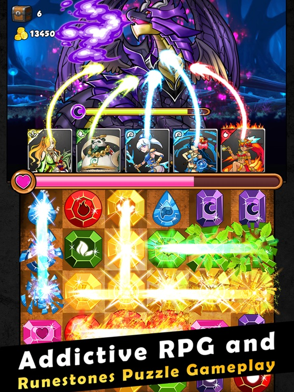Dragons Kingdom War: Puzzle & Card RPG Game-ipad-0