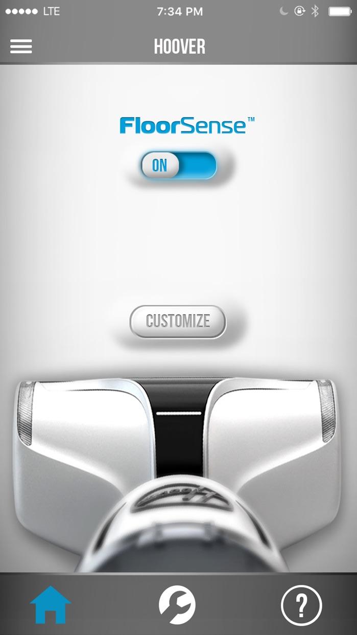 Hoover App Screenshot